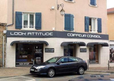 Vos enseignes lettres relief bloc led à Lyon : Enseigne lumineuse avec lettres bloc led à proximité de Lyon pour Look Attitude (Chaponost 69630)