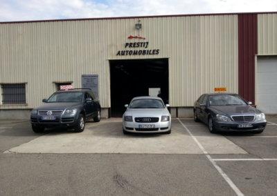 Enseigne pour Garage avec lettres découpées pour Prestij'Auto par SES Grigny -Lyon