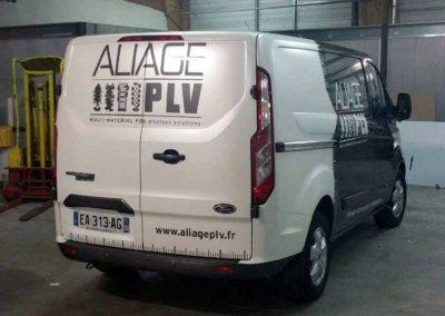 Flocage - Covering de véhicule par SES (Grigny-Lyon) pour Aliage PLV