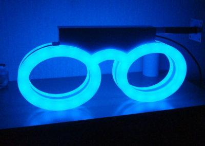 Enseigne Lunettes d'opticien lumineuses led- SES - Grigny-Lyon
