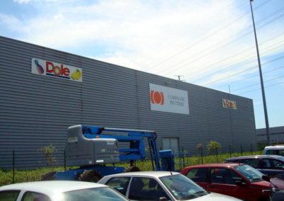 Enseigne à Mions à proximité de Lyon : Panneau aluminium pour  Compagnie Fruitière ( dans le Rhône).