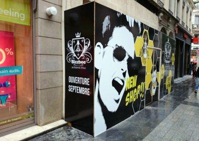 Habillage temporaire de façade à Lyon par SES (Grigny - Lyon)