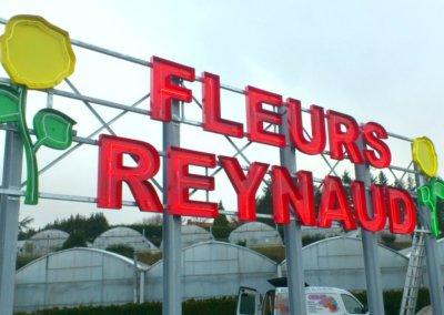 Vos  enseignes néons à Lyon: Enseigne lumineuse avec néons pour Fleurs Reynaud (42)  par SES (Grigny-Lyon)