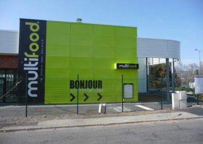 Habillage de façade pour Multifood par SES (Grigny-Lyon)