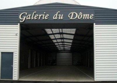 Enseigne avec lettres découpées en alu-composite ( dibond) pour la Galerie du Dôme - SES (Grigny - Lyon)