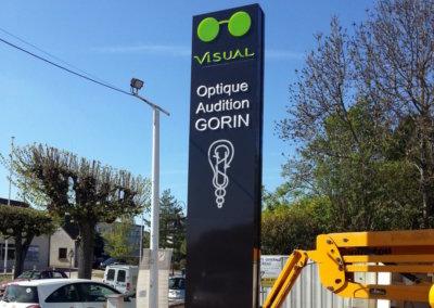 Totem pour les Opticiens Visual (Auxerre) par SES (Grigny -Lyon)