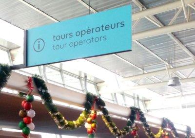 Signalétique intérieure Aéroport dans le Rhône par SES (Grigny -Lyon)