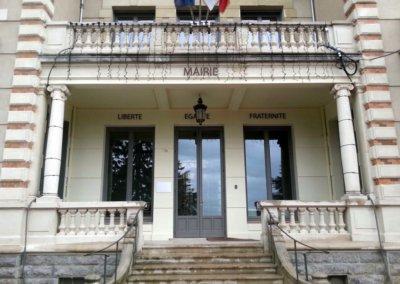 Enseigne Mairie avec lettres découpées pour une Mairie par SES (Grigny - Lyon)