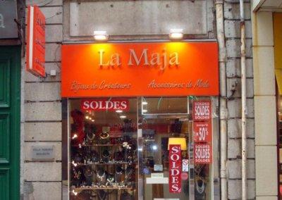 Enseigne avec lettres découpées pour La Maja par SES (Grigny - Lyon)