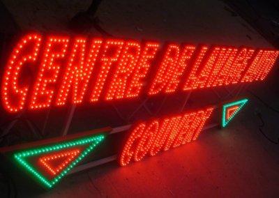 Vos  enseignes à Lyon: Enseigne lumineuse led - lettres individuelles point à point-SES (Grigny - Lyon)