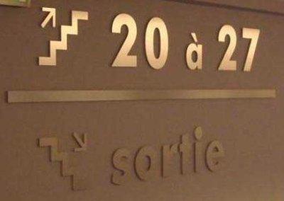 Vos enseignes à Lyon: signalétique intérieure