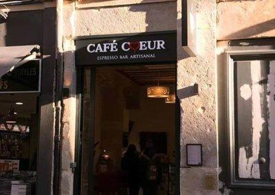 Enseigne à Lyon pour notre client Café Coeur