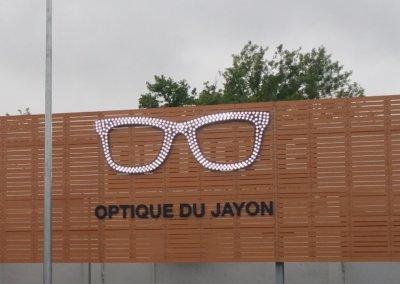 Vos enseignes à Lyon: Lunettes Opticien éclairage led à proximité de Lyon (Optique du Jayon - Grigny 69520)