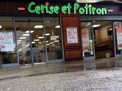 Vos enseignes à Lyon:  Enseigne à Lyon pour notre client Cerise et Potiron Caluire
