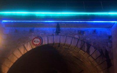 Eclairage architectural à Lyon Pont du Bourbonnais (Lyon 9)