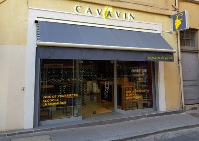 Vos Enseignes Lettres avec rétro-éclairage à Lyon: Enseigne à Lyon pour notre client Cavavin à la Croix-Rousse