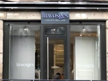Enseigne et adhésif vitrine Linvosges Saint Etienne (42000)