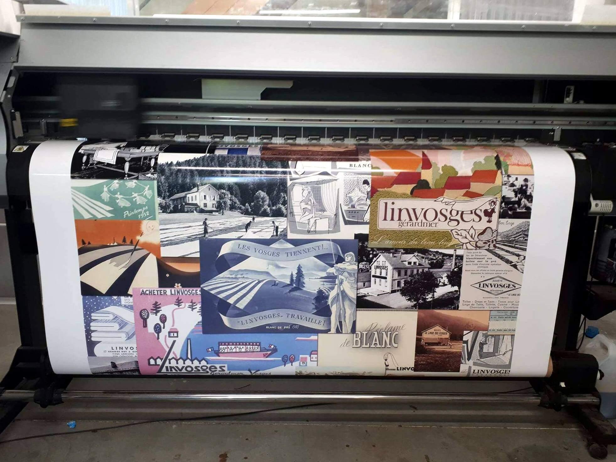 Impression numérique pour la boutique Linvosges de St Etienne 42000