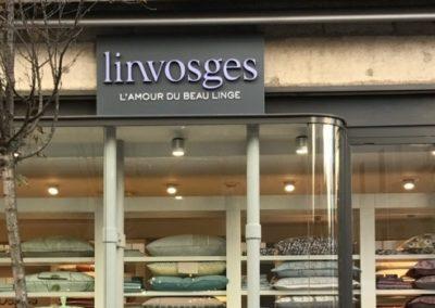 Votre enseigne à Lyon: Enseigne Bandeau non lumineux à Saint Etienne pour Linvosges par SES Grigny -Lyon