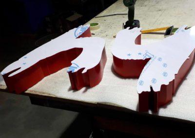 Vos enseignes à Lyon:  Lettre Relief Aluminium face Plexi éclairage Led pour Enseigne à Lyon