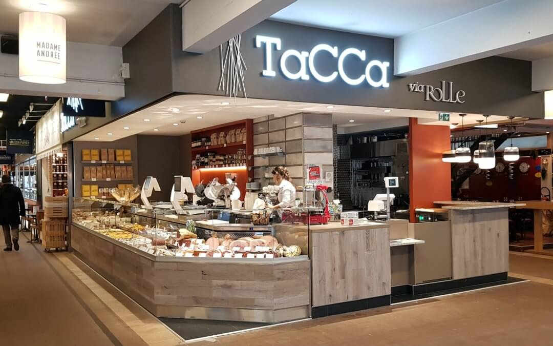 Enseignes à Lyon pour TACCA via Rolle aux Halles Paul-Bocuse