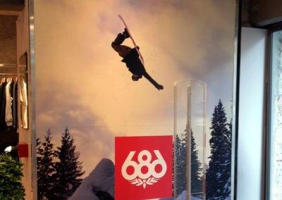 Vos enseignes à Lyon: Panneau impression numérique à Lyon pour Addicted and Snow