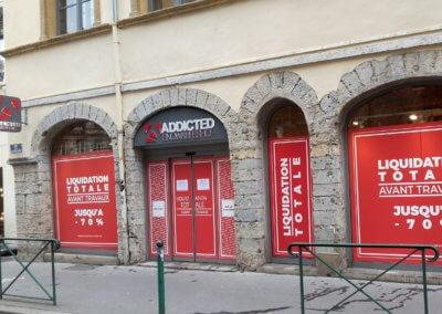 Vitrophanie Lyon pour Addicted Lyon