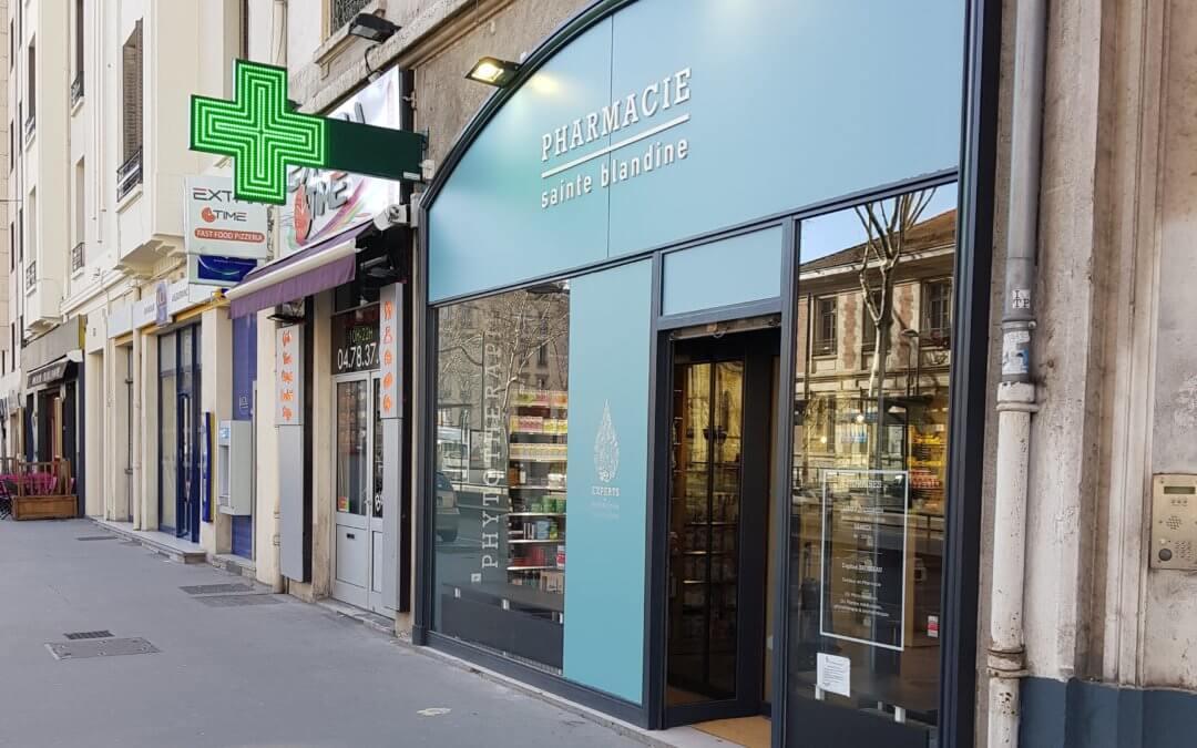 Signalétique – Enseigne Pharmacie-Lyon