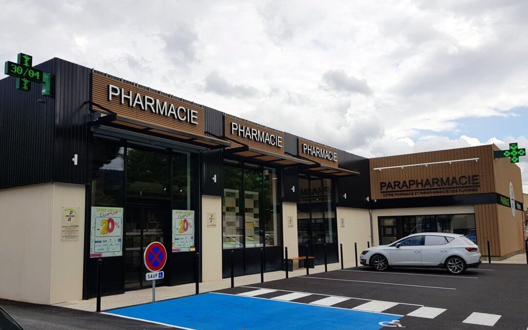 Enseignes pour la Pharmacie des Platanes