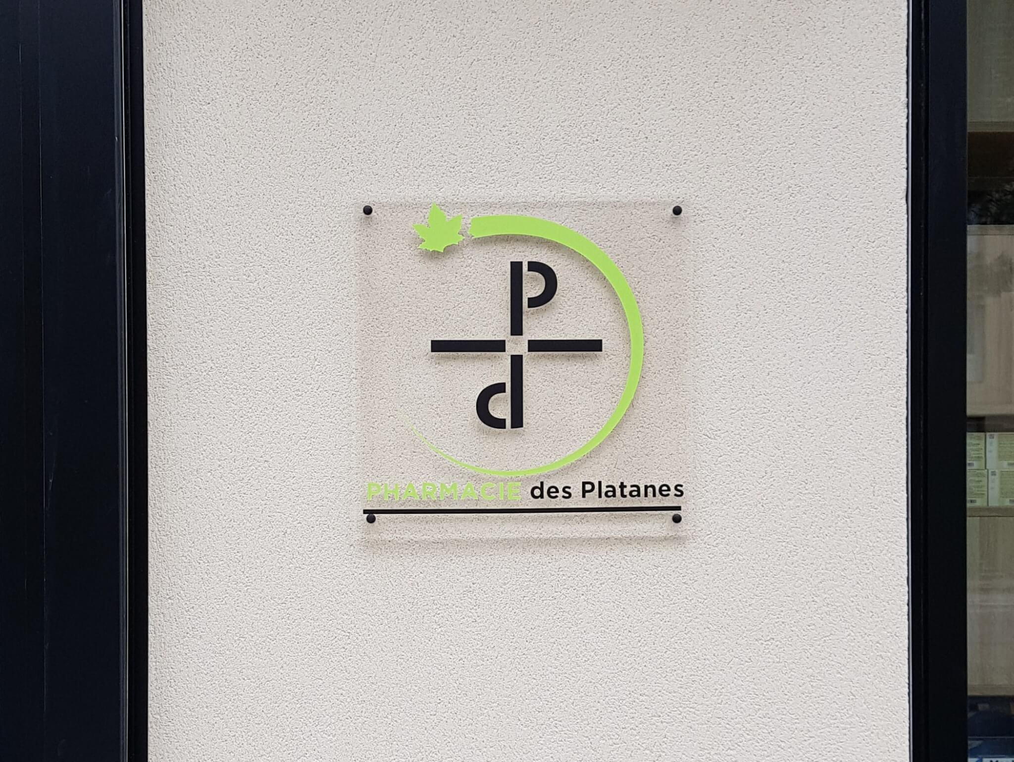 Pharmacie Plaque signalétique PMMA transparent -SES Grigny Lyon