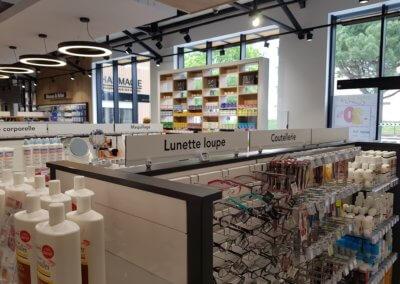 Signalétique rayon pharmacie-SES Grigny-Lyon