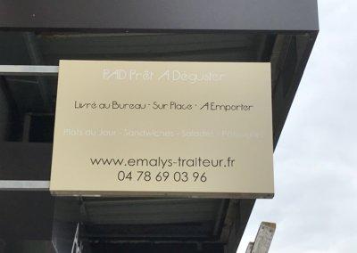 Vos enseignes à Lyon - Enseigne Drapeau Double face par SES Grigny
