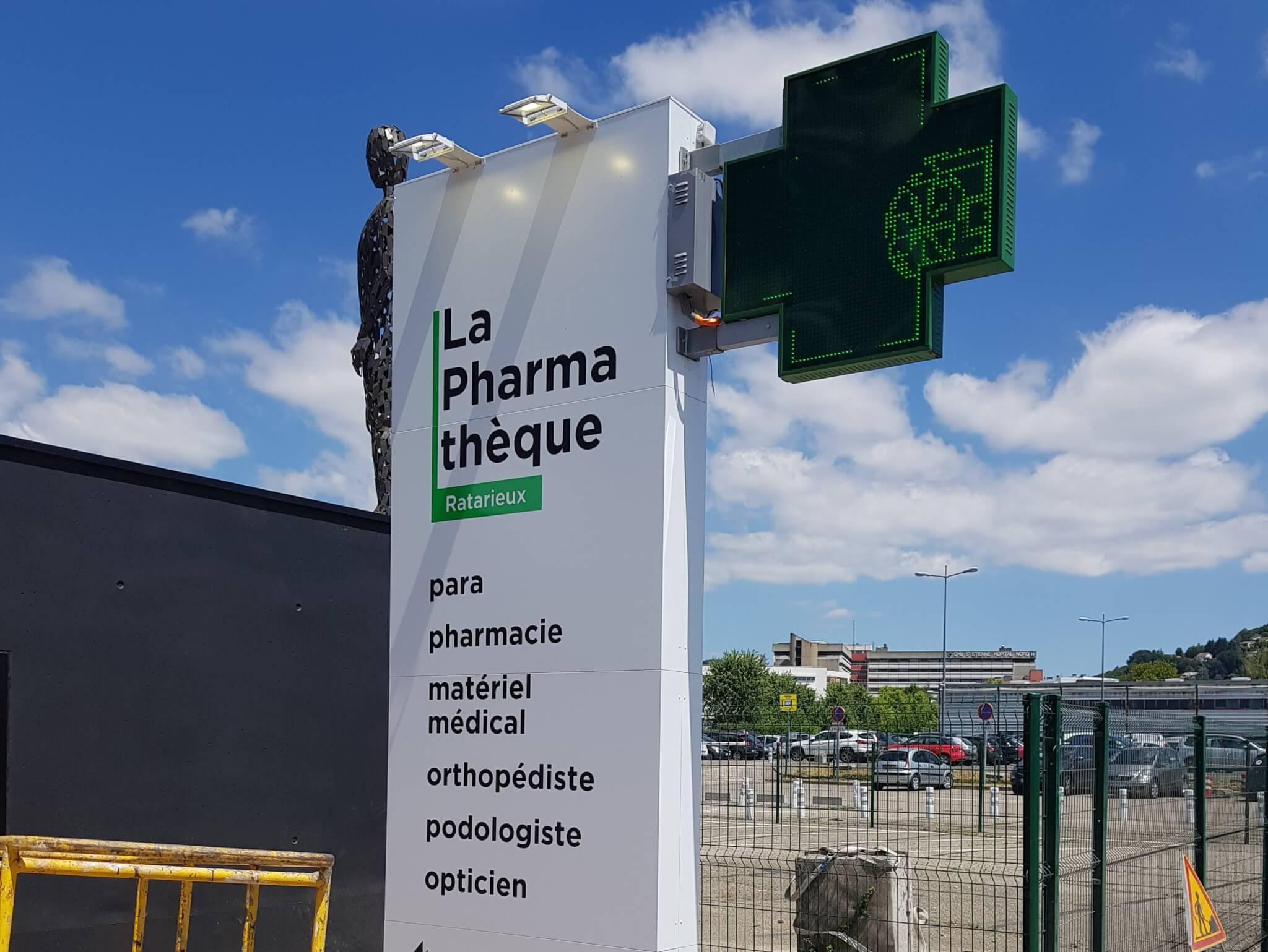 Enseignes de Pharmacie - Totem pour Pharmathèque Ratarieux- SES Grigny-Rhône