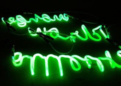 Fabrication de texte enseigne néon par SES Grigny