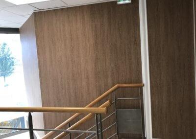 Enseigne Lyon- Adhésif imitation Chène pour Bureau par SES Grigny -Rhône