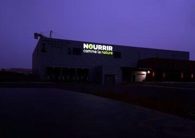 Nourrir comme la Nature - Enseigne lumineuse éclairée -SES Grigny- Lyon