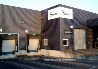 Enseigne et signalétique pour quai expédition Santos -SES Grigny- Lyon