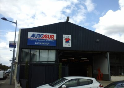 Enseigne Panneau aluminium avec adhésif Autosur Loire sur Rhône -SES Grigny