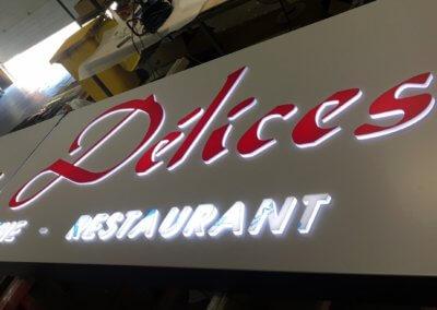 Fabricant enseignes Lyon- SES Grigny - Restaurant Café Amae Délices