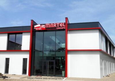 Enseigne Grand Format Lumineuse - SES Grigny -Lyon pour Groupe Martel