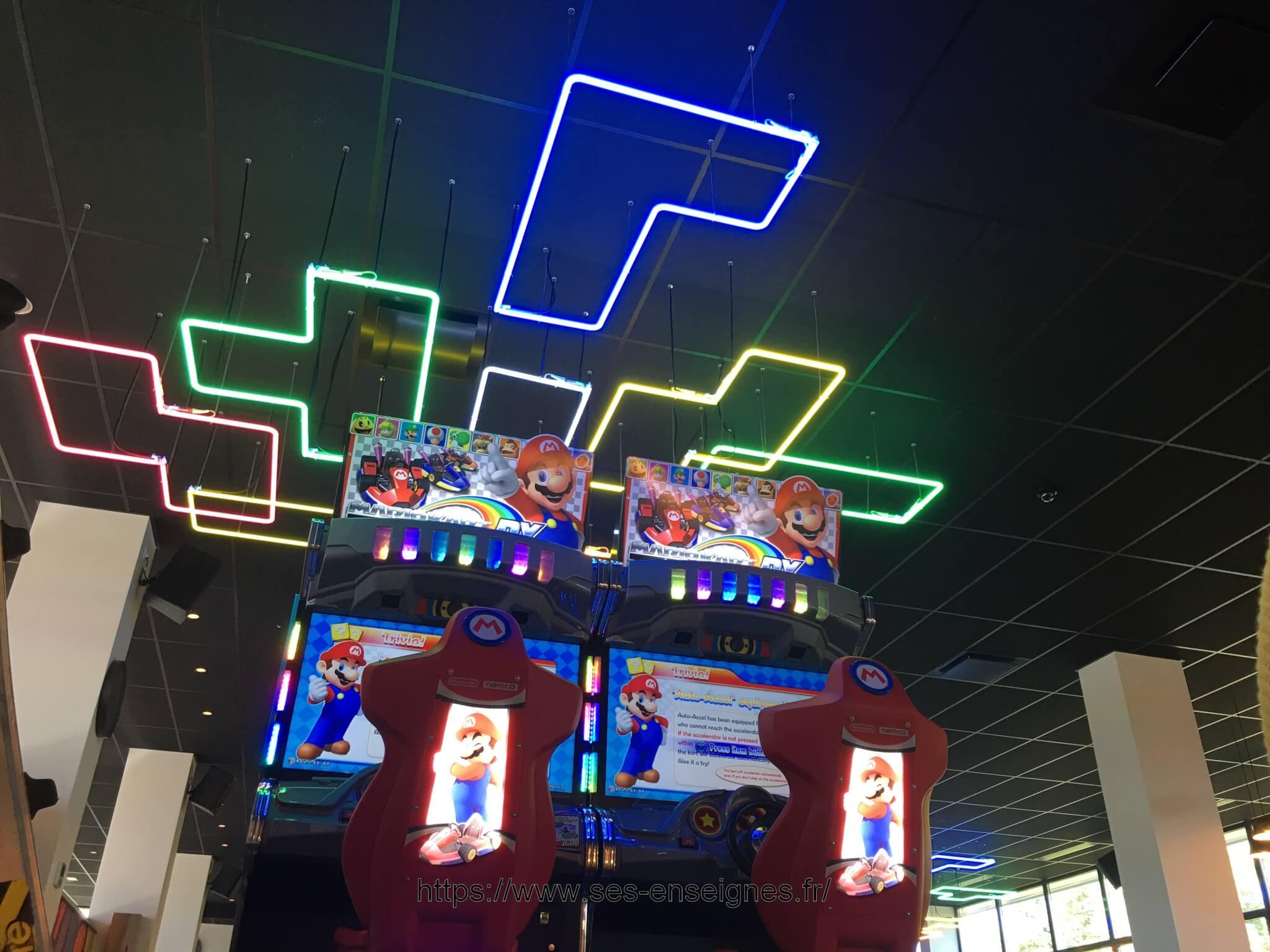 Enseigne néon Animation salle de jeux LDLC - Enseigniste SES Grigny Lyon