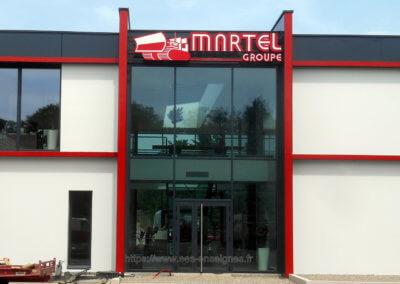Fabrication Enseigne Grand Format Lumineuse Lyon Groupe Martel Installation enseignes SES Grigny