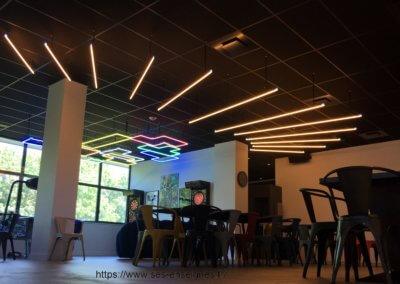 Néon décoration animation salle de Jeux LDLC - SES Grigny Lyon