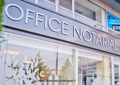 Enseigne Lyon Notaire 69009 - Fabrication et installation Enseigne -Enseiginste SES Grigny Lyon