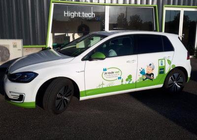 Covering- Adhésif véhicule de société Lyon Grigny SES- Enseigniste Fabricant et Intallateur d'enseignes à Lyon