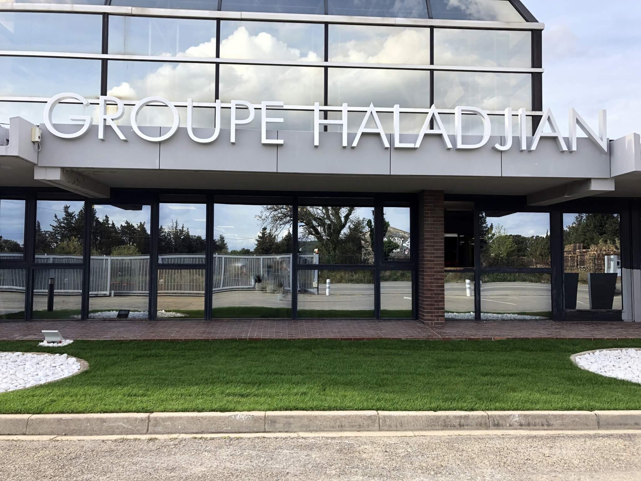 Enseignes lumineuses Lyon SES Grigny pour Groupe Haladjian Sorgues