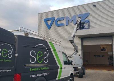 Enseigne Batiment Industriel Isère pour CMZ
