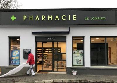 Enseignes Pharmacie de Lompnes- Fabricant et installateur d'enseignes Lyon -SES Grigny
