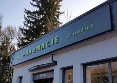 Enseignes lumineuses Pharmacie- Pharmacie de Lompnes - Fabrication et installation SES enseigne Lyon Grigny