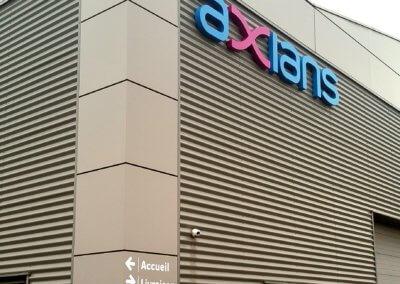 Adhésif batiment industriel Axians SES Grigny Lyon